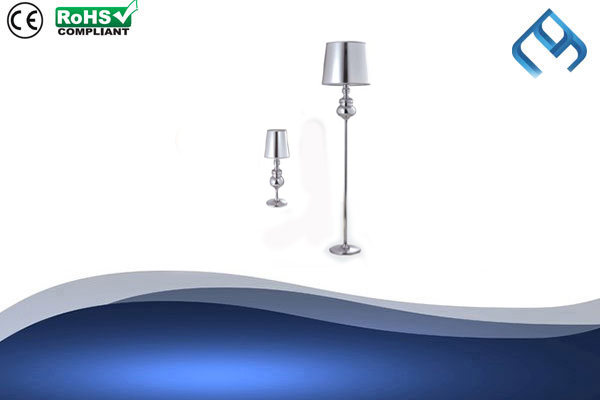 Metallic-Silver-Floor-&-Table-Lamp