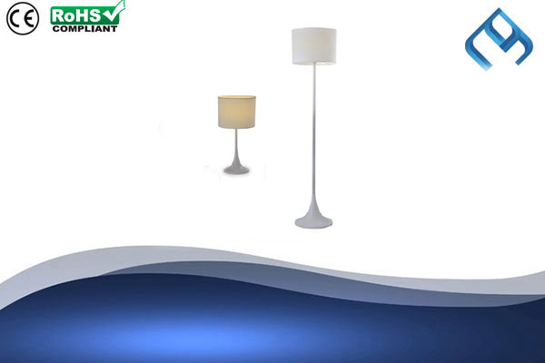 Fabric-White-Floor-&-Table-Lamp